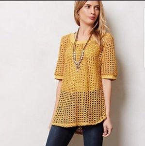 Anthropologie golden Senoia pullover sweater top S